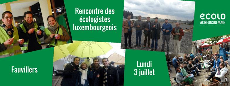 Rencontre des écologistes luxembourgeois