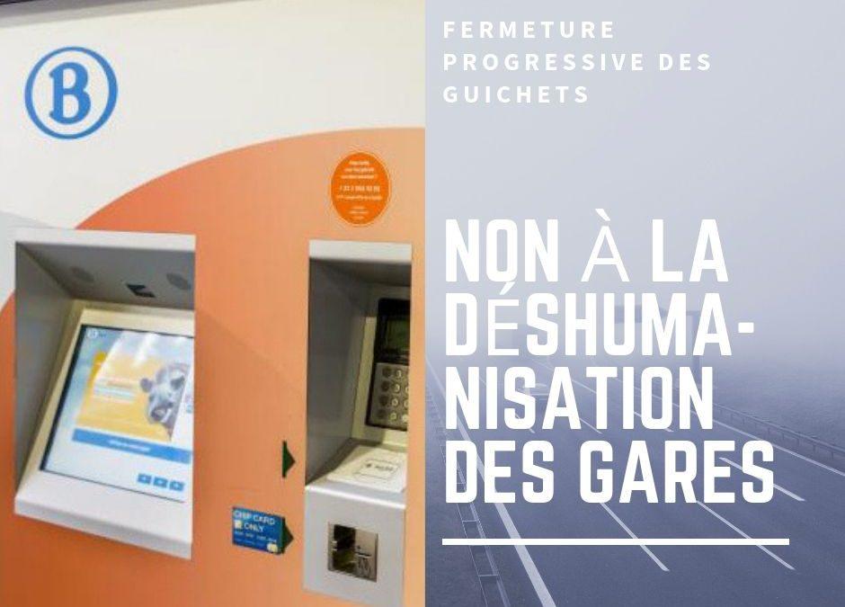 ECOLO Luxembourg s'oppose à la réduction des horaires d'ouverture des guichets dans 6 gares de la Province