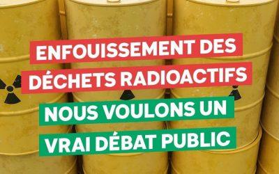 Projet motion enfouissement déchets radioactifs